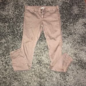 Light Brown Free People skinny jeans size 27
